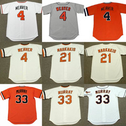 Wholesale Quick Weaver - S-5XL Mens Custom Any Name Number 4 Earl Weaver 21 Nick Markakis 33 Eddie Murray Throwback Jersey Free Ship