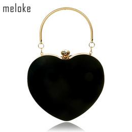 86aa3e034 Meloke 2017 en forma de corazón de diamantes mujeres bolsos de noche bolso  de hombro de la cadena del día embragues bolsas de noche envío de la gota  MN865