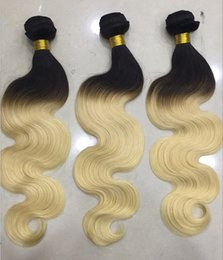 Wholesale Hair 613 - High Quality Brazilian Hair Weaves Body Wave or Straight 1B 613