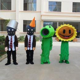 2019 trajes de mascotes de planta Material de alta Qualidade EVA Capacete Plantas zombie Trajes Da Mascote Creiom Dos Desenhos Animados Vestuário festa de Aniversário Masquerade WS944 trajes de mascotes de planta barato