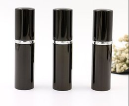 Wholesale Wholesale Home Fragrance Oil - Black Wholesale 10ML Cute Fashion Travel Refillable Mini Perfume Atomizer Spray Bottle Home Fragrances Essential Oils GLO