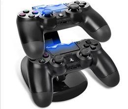 ÇIFT Yeni varış LED USB ChargeDock Yerleştirme Cradle İstasyonu kablosuz Sony Playstation 4 PS4 Oyun Denetleyicisi için Şarj Standı nereden