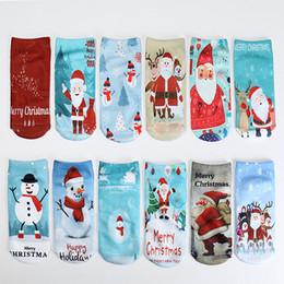 articles de jeux d'eau Promotion Noël bateau chaussettes drôle de bande dessinée impression 3D Santa Claus Cheville Sock Fashion Unisexe Bas Nouveau Arriver 2 2dt C