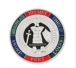 Американская броня онлайн-Божья броня 8 американский вызов памятная монета двухсторонний цвет памятный знак Оптовая коллекция памятная монета