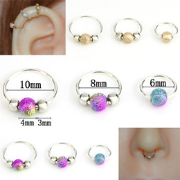 Discount nostril rings - 1Pcs High Quality Nostril Hoop Nose Ring Nose Earring Piercing Hiphop Body Piercing Jewelry