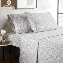 bedding coverlet sets Promo Codes - Naturelife Paisley Floral Bedspread Bed Cover Bedsheet Pillowcase Quilted Bedding Lightweight Soft Smooth Coverlet Sets 3 4pcs