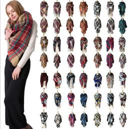 38 colori moda inverno sciarpa per le donne delle donne di marca signore  sciarpa di cachemire femminile plaid scialle sciarpe delle donne triangolo  coperta ... 0d714f76eb76