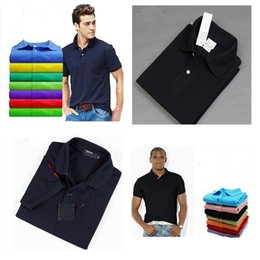 Wholesale Mens Clothing Small - HOT sell Polo Shirt 2018 Summer New Brand Big small Horse crocodile tommy Men Clothing Solid Mens Embroidery Polo Shirts
