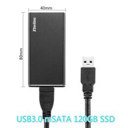 finger usb flash Promotion Zheino P3 USB3.0 Portable externe 120Go SSD Boîtier en aluminium Super Speed avec disque dur SSD mSATA pour Hlaf mSATA et SSD
