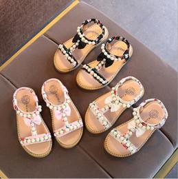 perle schuhe sandalen mädchen Rabatt 2018 Sommer neue koreanische Kinder Sandalen Mädchen öffnen Zehe Perle Prinzessin Schuhe kleine Beleg Baby Schuhe