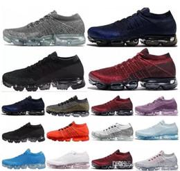 Wholesale Womens Casual Walking Shoes - 2018 New Vapormax Men casual Shoes For Mens Sneaker Womens Fashion Athletic Sport Shoe Hot Corss Hiking Jogging Walking Black blue Shoes