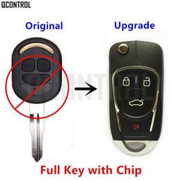 Wholesale flip key alarm - QCONTROL Upgraded Car Remote Key DIY for Chevrolet Lacetti Optra Nubira Vehicle Flip Pocket Alarm