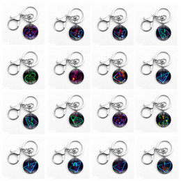 Wholesale Men Key - Avengers Keychain Iron Man Captain America Spiderman Time Gemstone Alloy Glass Key Chain Keyring 24 Styles Novelty Items OOA5038