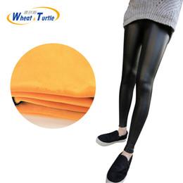 Canada Automne Hiver Épaissir Or Velours Maternité Outwear Leggings Version coréenne En Cuir Artificiel Crayon Pantalon Pour Les Femmes Enceintes Offre