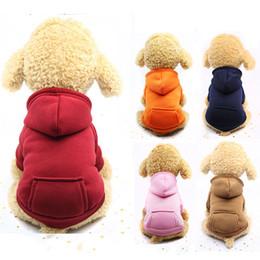 Sudaderas grandes online-Ropa de invierno francés bulldog francés ropa chihuahua perrito capa sudadera para york maltés perro con capucha buldog chaleco salvavidas