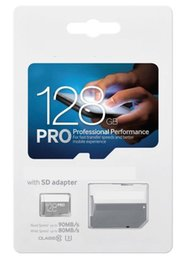 Wholesale 128gb Tf - PRO Blue 128GB 64GB 256GB 32G Class 10 Micro SD TF Card + Free SD Adapter + Blister Package + DHL Free Shipping
