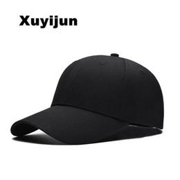 4f8e9fb7278 Xuyijun Black Adult Unisex Casual Solid Adjustable Baseball Caps Snapback  hats for men baseball cap white men cap dadcap