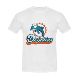 2019 top de camisetas de delfines Burrows Custom Dolphins Miami Slim Fit de algodón para hombre Camiseta blanca Nueva marca - Ropa Camisetas Top Tee Cool Summer Tees