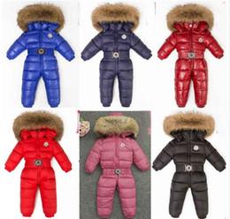 Bodys crianças on-line-Marca Inverno Novo Bebê Conjoined Desgaste das Crianças Moda Doces Com Capuz de Manga Comprida Do Bebê Para Baixo Casacos Bodysuits Crianças Roupas do Miúdo para baixo casaco