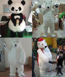 Wholesale Polar Bear Costume Adult - 2018 Lovely Polar Bear Mascot Costume Adult Size Animal Theme White Bear Mascotte Mascota Outfit Suit Fancy Dress