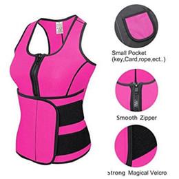 Wholesale tummy control girdle - New Hot Waist Cincher Sweat Vest Trainer Tummy Girdle Control Corset Body Shaper for Women Plus Size S M L XL XXL 3XL 4XL