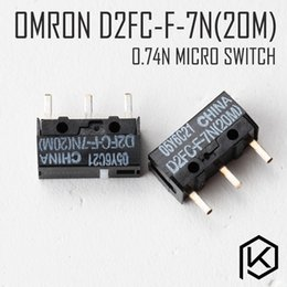 Wholesale Omron Switches - omron d2fc-f-7n 20m 5pcs Free shiping Micro Switch Microswitch for Mouse service life 2000W gaming micro switch white point