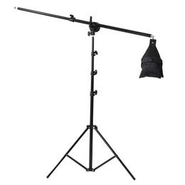 Beleuchtung boom arm online-Fotoausrüstung Fotostudio Licht Kit Boom Arm Stativ mit 200 cm Licht Stand 75-135 cm Licht stehen Cross Arm