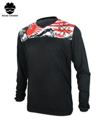 Wholesale Polyester Motocross - 2018 New Motorcycle ATV Racing Long Sleeve Jersey Motocross Off Road Downhill MTB Absorb Sweat Breathable Clothes