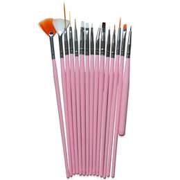 15pcs nail art painting pen brush Promo Codes - Tools Brushes 15pcs Pro Art Decorations Brush Set Tools Professional Painting Pen For False Nail Tips UV Nail Gel