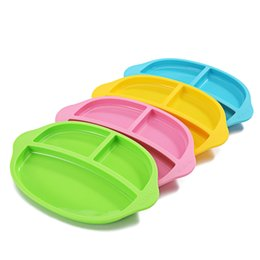 Wholesale Dinner Plates Bowls - Hot Selling Baby Fedding Dinner Plate Bowl 2 in 1 Children Dishes Bowl Plate Fruit Silica Gel Unbreak Non Slip Service