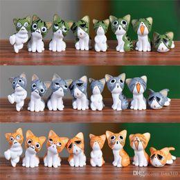 scultura di piombo Sconti Nuovo Mini Cat Moss Micro Bonsai Garden Piccolo Ornamento Paesaggio Home Garden Decoration 120pcs / lot T2I124