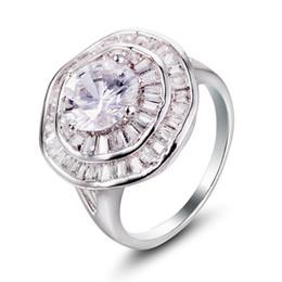 D em forma de jóias on-line-Bulk moda europeia jóias D em forma de anel de noivado cz diamante anel de casamento YH-187