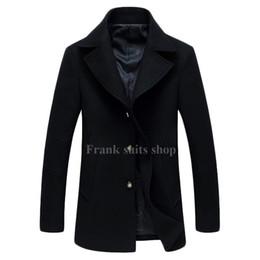 c12f44b25ab8a 2019 chaquetas de lana para hombre 2017 Por Encargo Chaqueta de Invierno  Hombres Abrigos de Lana