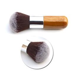 60 PCS Mode Beauté Plat Tampon Fondation Poudre Fard Blush Visage Cosmétique De Base Outil Bambou Poignée Maquillage Outils EMS DHL B01004 ? partir de fabricateur