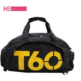 zapatos suaves de la piel Rebajas 2018 Brand Men Travel duffle Bag Mujeres mochila impermeable Espacio separado para zapatos bolsa Voyage sac de T60 Hide Mochila bolsas