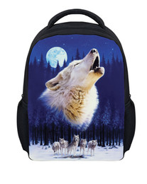 Wholesale Backpack Pictures - Free shipping wholesale fashion children's personality lovely 3d animal canvas custom picture schoolbag