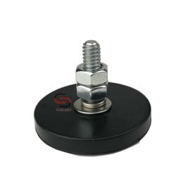 Установленная видеокамера онлайн-6шт D43mm неодимовый каучук с покрытием Магнит горшок M1 / 4 дюйма резьба анти поверхности царапин камеры видео платформа крепление магнитное основание