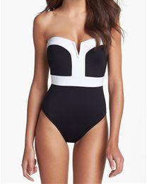 traje de baño pinup Rebajas 2018 Vintage Girl Sexy Push Up Pinup Bikini Monokini traje de baño traje de baño sujetador de cintura alta traje de baño para mujer