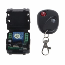 Wholesale 433mhz Remote Relay - OOTDTY DC 12V relay 1CH 433MHz wireless RF Remote Control Switch Transmitter + Receiver