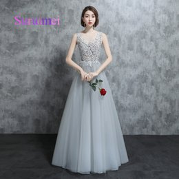 Wholesale Embellishment Dress - Real Samples 2018 A Line Scoop Prom Dresses Robe de Soiree Appliques Embellishment Formal Evening Gowns For Party Dress