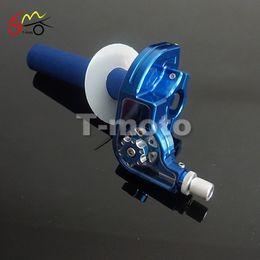 Wholesale twist handle - CNC Adjusterable Aluminum Throttle Grips Settle twist gas throttle handle For Dirt Pit Bikes Kayo Bse Apollo 110-250cc Modified