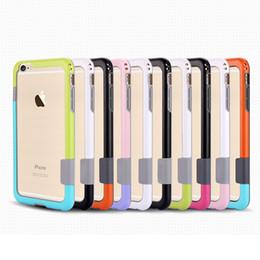 Canada Cadre de pare-chocs bicolore pour iphone 7 6 6 s supplier iphone rubber frame Offre