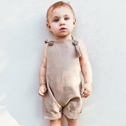 Wholesale Babies Harness - 2018 kids clothes New childrens harness shorts men and women baby overalls summer clothes