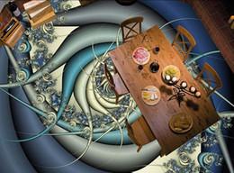 2019 óleo, arte, oceânicos, ondas Personalizado Foto Piso 3D Papel De Parede Arte Moderna pintura A Óleo 3D piso de onda do oceano pintura decorativa PVC Piso Adesivo Pintura Murais desconto óleo, arte, oceânicos, ondas