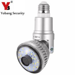 Wholesale Wireless Remote Motion Detector - YobangSecurity Wireless Wifi P2P Network Camera LED Lamp Bulb Motion Detector Security DVR Camera Remote View 120 Degree