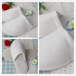Wholesale Times Slippers - New white Disposable Slippers one-time hotel family travel Soft Once only Baboosh thicken chinela