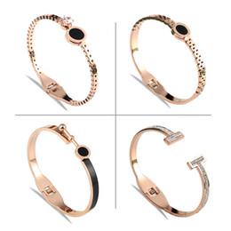 Rose Gold Lover Cuff Bangle pulseiras feitas com cristais Swarovski, jóias de níquel livre para as mulheres - presente de amor cheap nickel gifts de Fornecedores de níquel presentes
