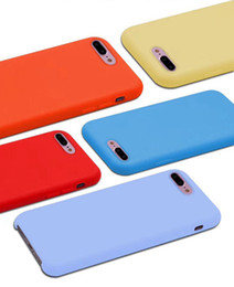 microfiber iphone Coupons - Official Liquid Silicone Soft Case For Iphone X 8 Plus 7 6 6S Gel Rubber Shockproof Phone Microfiber Cushion Cover Coque With Retail Box