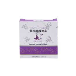 Wholesale Lavender Soaps - 2pc lot lavender essential oil control handmade soap labels acne removal treatment travel base cleanser skin whitening soap