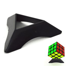 Wholesale Triangle Puzzle Cubes - LLTOYS Brand Black  White Magic Cubes Plastic Triangle Holder Base Tower Style Puzzle Cube-related Kid Gift YJ-P0001